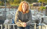 Kate Humble on the sheep keeping course at Humble By Nature