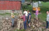 Learn how to build a dry stone wall at Kate Humble's farm Humble by Nature in Monmouth South Wales