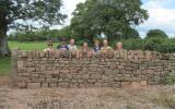 Learn Dry Stone Walling at Humble by Nature Kate Humble's farm Humble by Nature in Monmouth South Wales