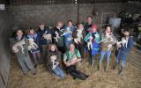 Kate Humble with one of the lambing 24 groups at Humble By Nature