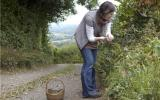 Liz Knight out foraging at Kate Humble's farm Humble By Nature