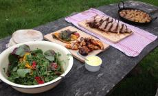 Learn to cook on a wood-fired oven at Humble by Nature, Kate Humble's Working Farm in Monmouthshire