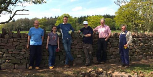 Learn to build Dry stone walls Dry Stone Walling at Humble by Nature Kate Humble's farm Humble by Nature in Monmouth South Wales