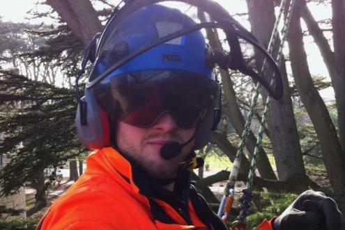Lear basic chainsaw safety with Paul Carter at Humble by Nature Kate Humble's working farm