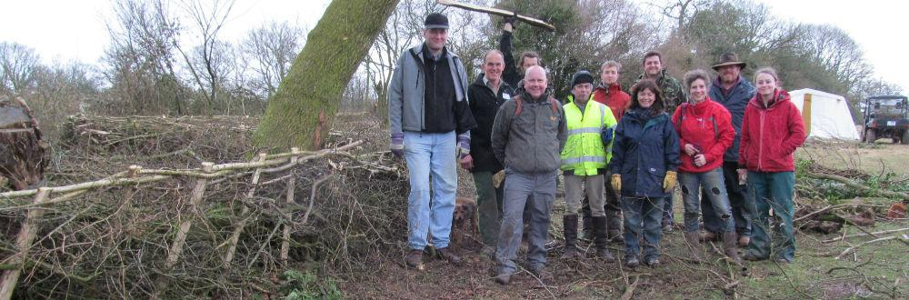 Rural skills and hedge laying courses at Kate Humble's farm Humble By Nature
