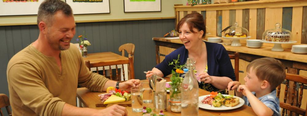 Farm Shop and Cafe at Kate Humble's farm Humble by Nature in Monmouth, South Wales